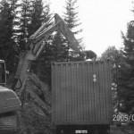 Aufstellen unseres 1. Lagercontainers für Pyrotechnische Gegenständen der damaligen Klassen I und II.