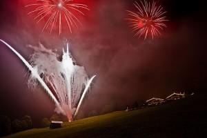 Brillantfeuerwerk bei Rosi`s Sonnbergstube in Kitzbühel von HTH pyrotec
